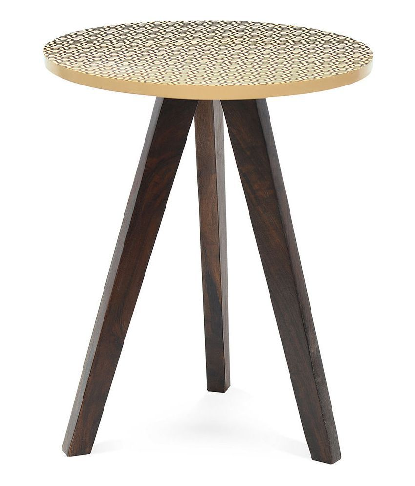 @home by Nilkamal Matrix Solid Wood Side Table