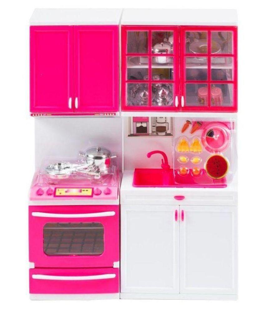 A r enterprises pink plastic kitchen set buy a r for Plastic kitchen set