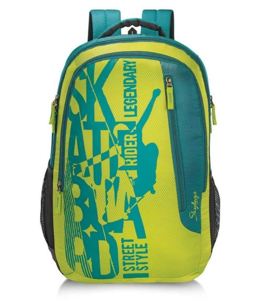 Skybags Green Polyester School Bag - Buy Skybags Green Polyester School Bag  Online at Low Price - Snapdeal