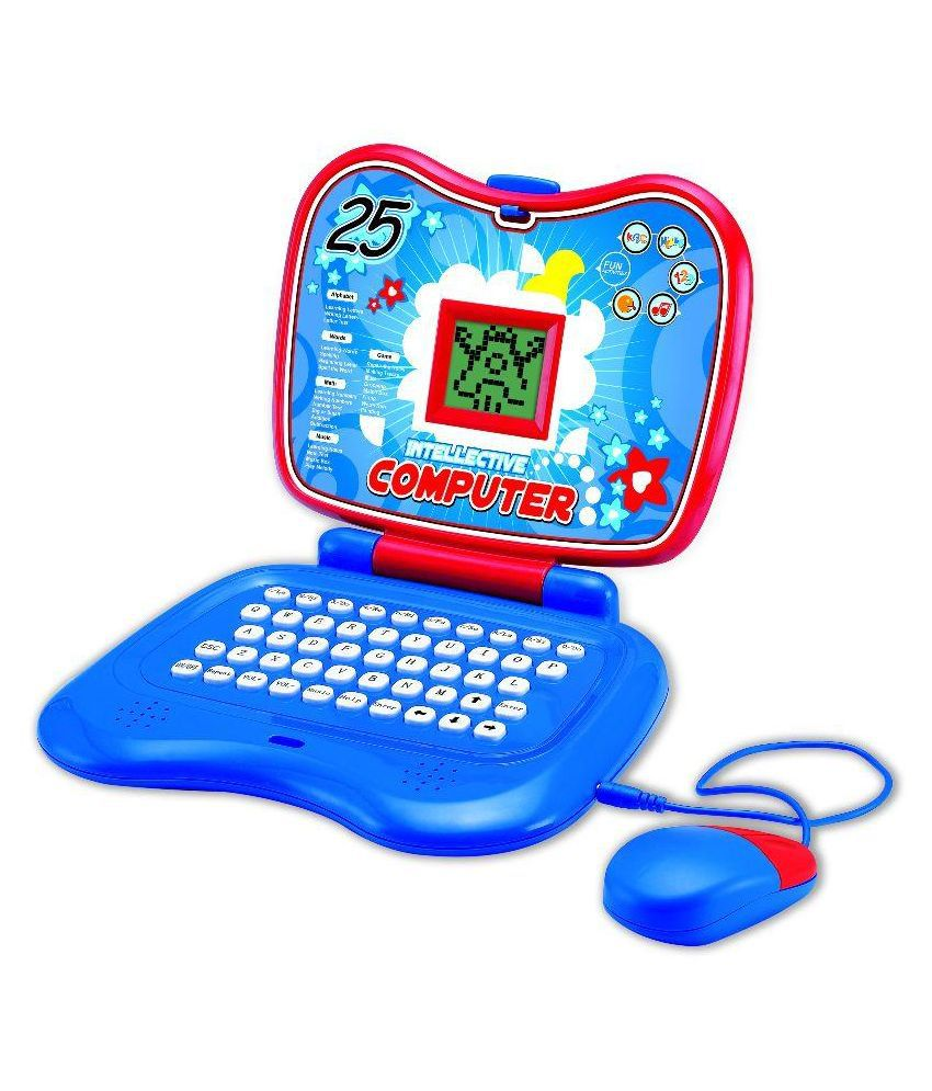 Toyhouse Kids Blue Plastic Educational Learning Laptop ...