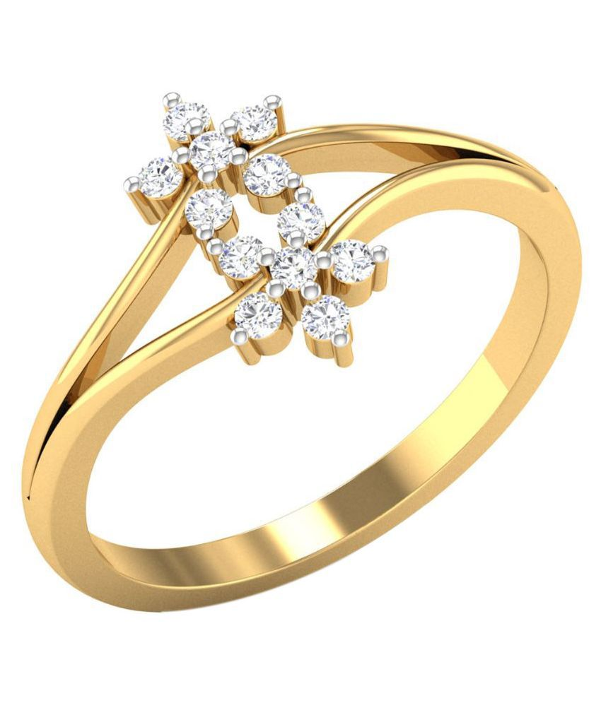 Zaamor Diamonds 18kt Yellow Gold Ring