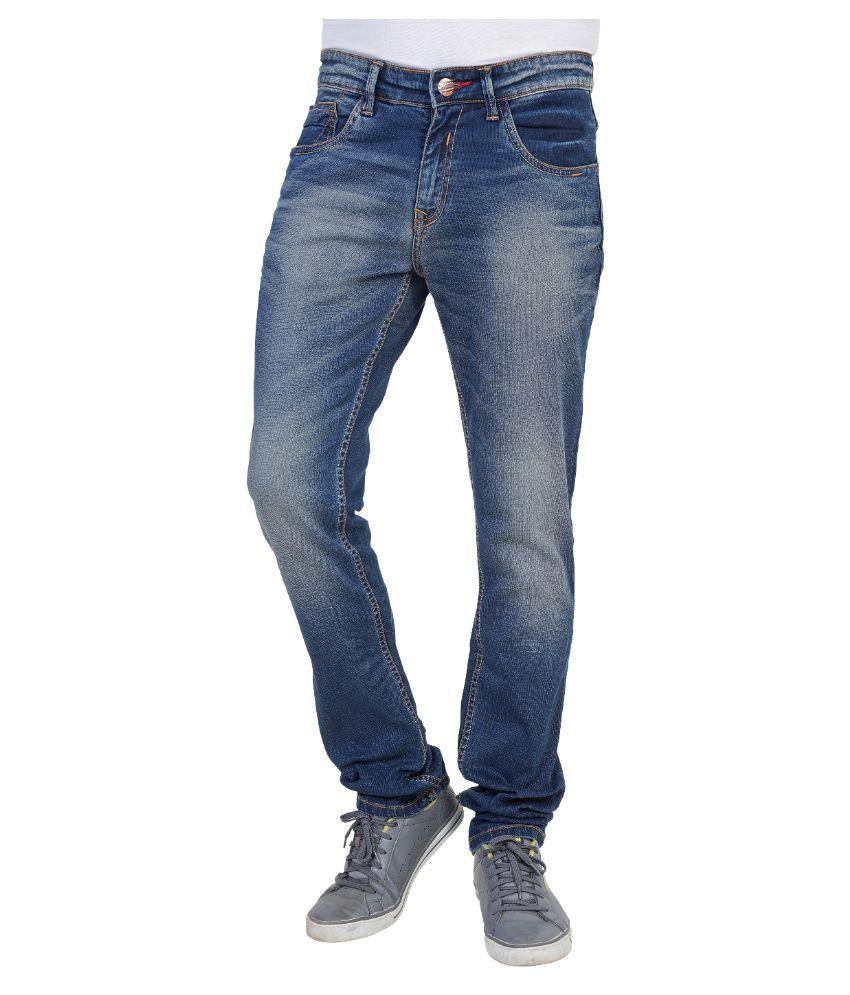 Thames Blue Regular Fit Solid Jeans