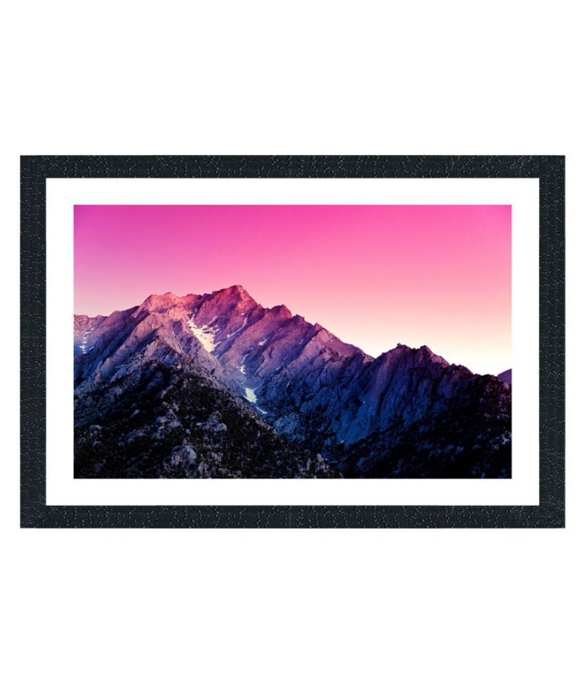 Sifty Collection Canvas Art Landscape Painting with Acrylic Frame