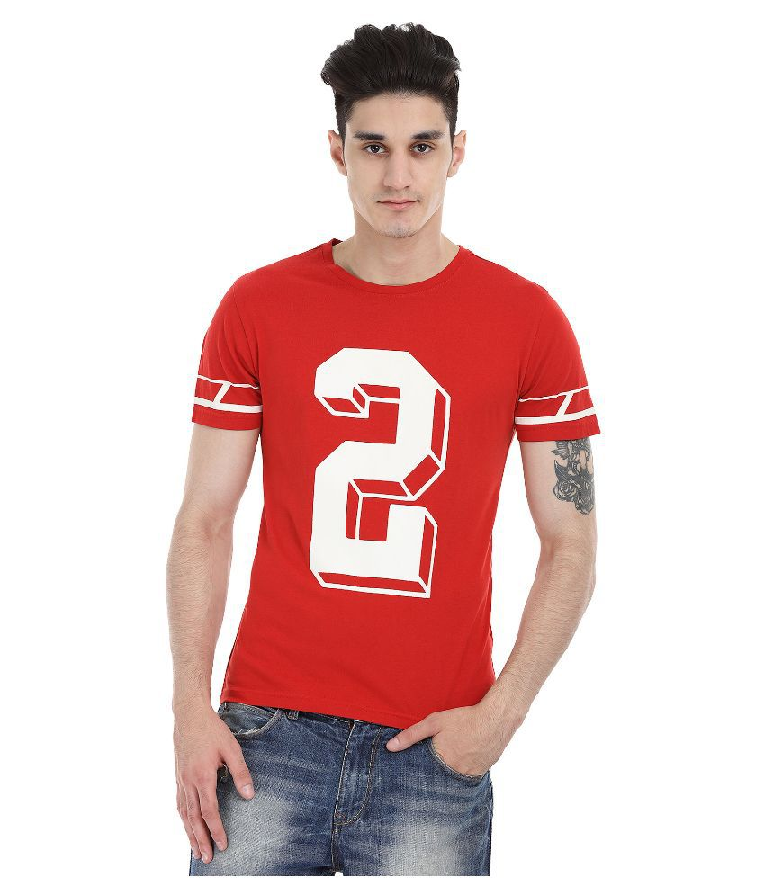 Zobello Red Round T Shirt