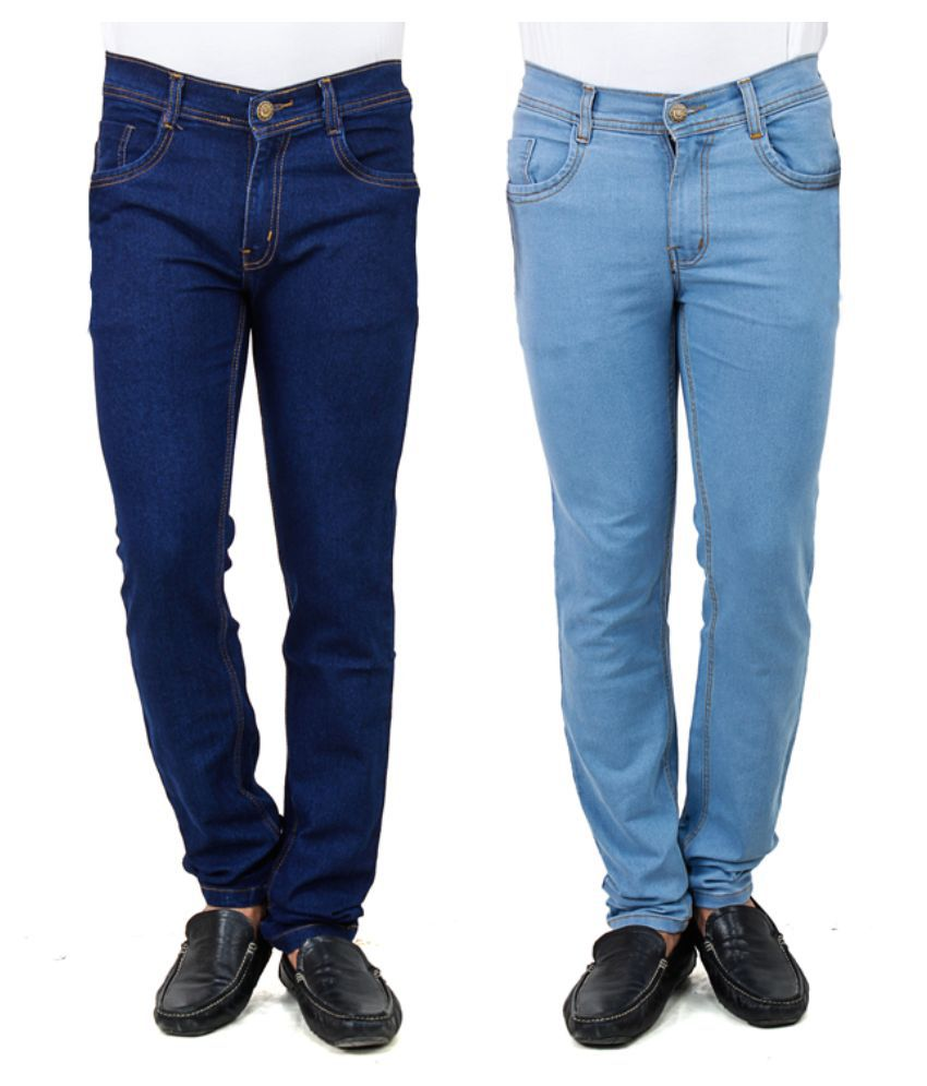 Stylox Blue Slim Fit Solid Jeans