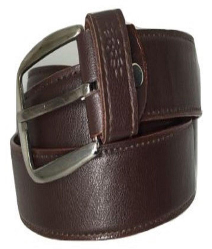 HomeNeedz Brown Leather Formal Belts