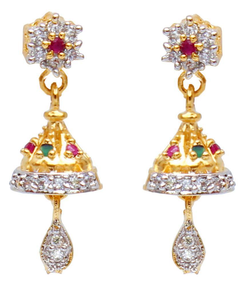 Lucky Jewellery Multicolor Jhumki