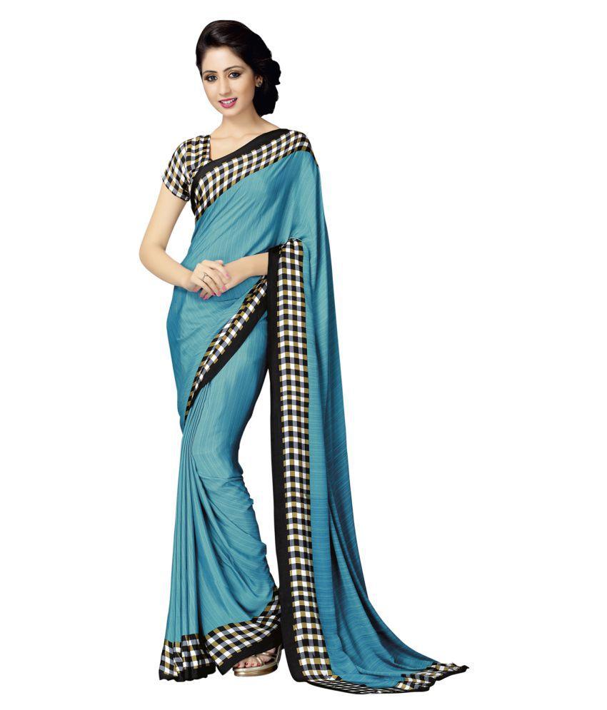 Mahiyar Blue Silk Saree
