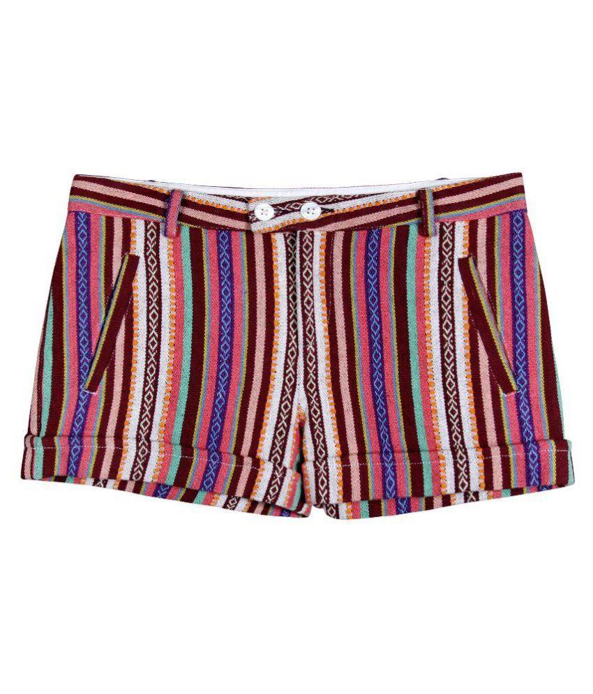 Miss Nightingale Multicoloured Cotton Shorts