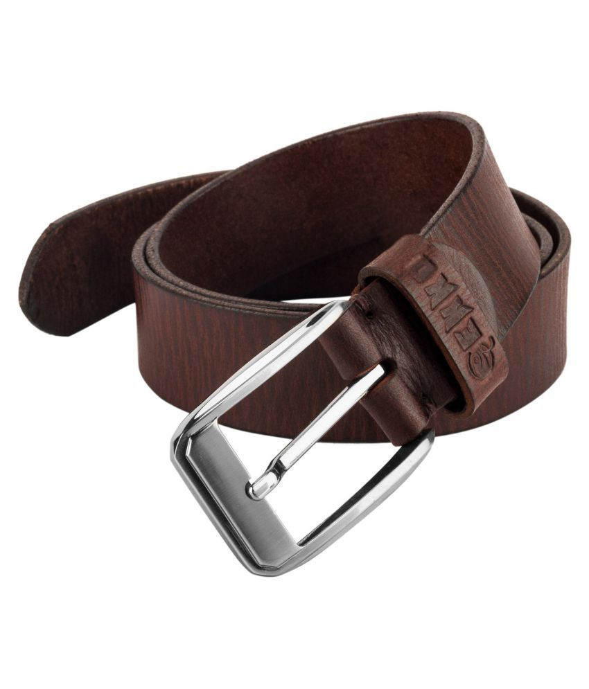 Gekko Brown Leather Formal Belts