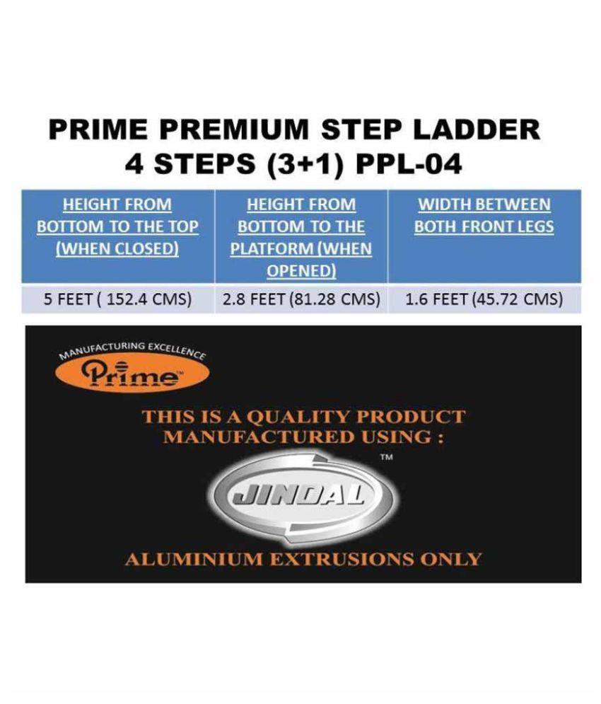 Prime Aluminium Premium Step Ladders (4+1) 5 Steps