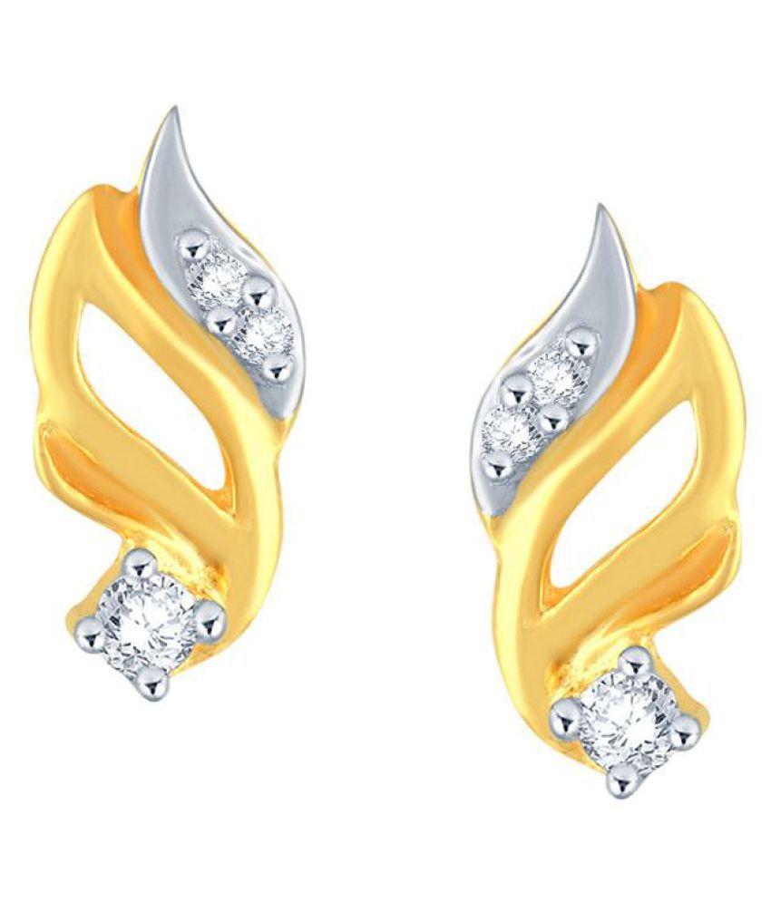 11 Diamonds 92.5 Silver Diamond Studs