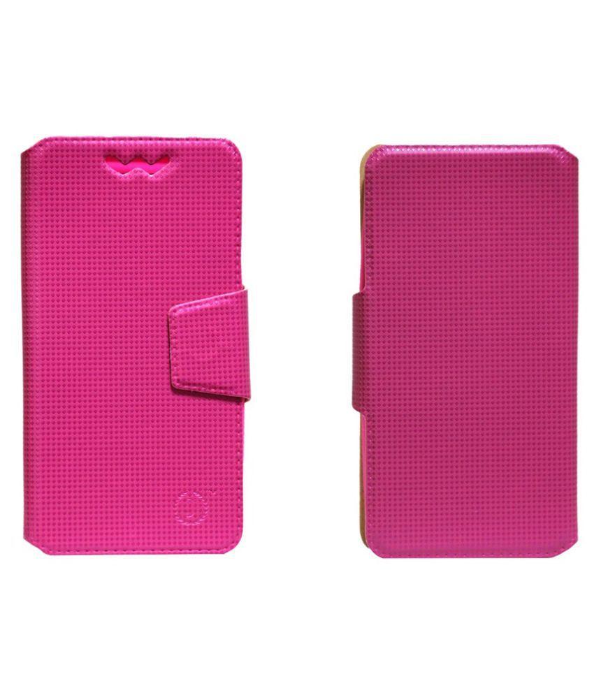 Huawei Ascend Y600 Flip Cover by Jojo - Pink