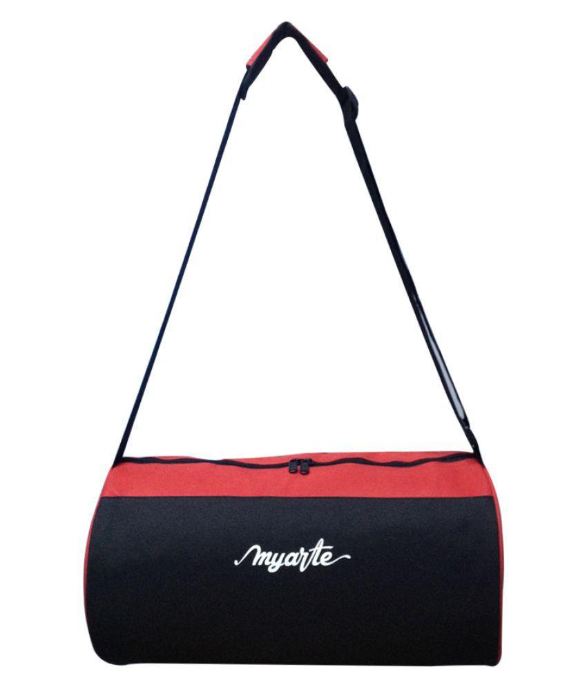 Myarte Black,Red Gym Bag