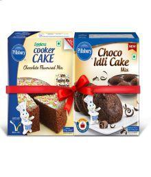 Pillsbury Choco Idli Cake & Cooker Cake Mix Chocolate (Combo)