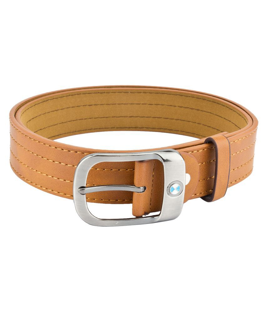 Mango People Tan Leather Casual Belts