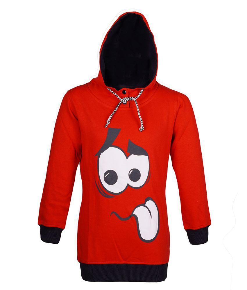 Naughty Ninos Red Hooded Sweatshirt