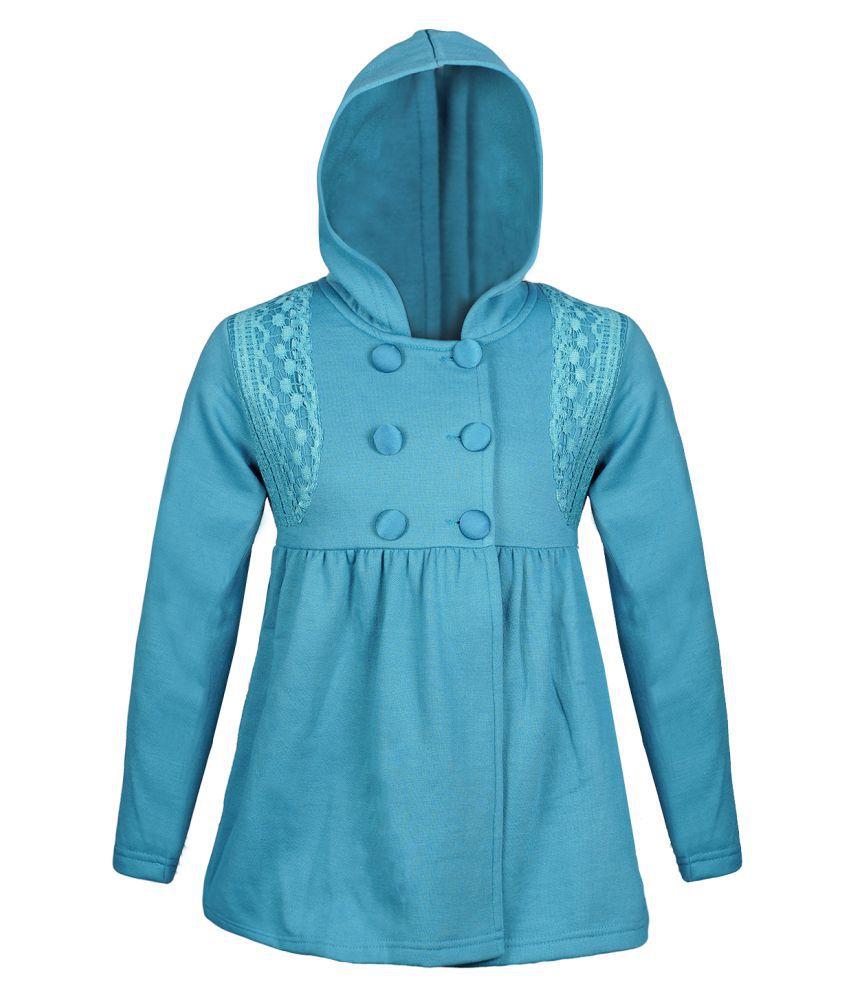 Naughty Ninos Turquoise Cotton Blend Coat