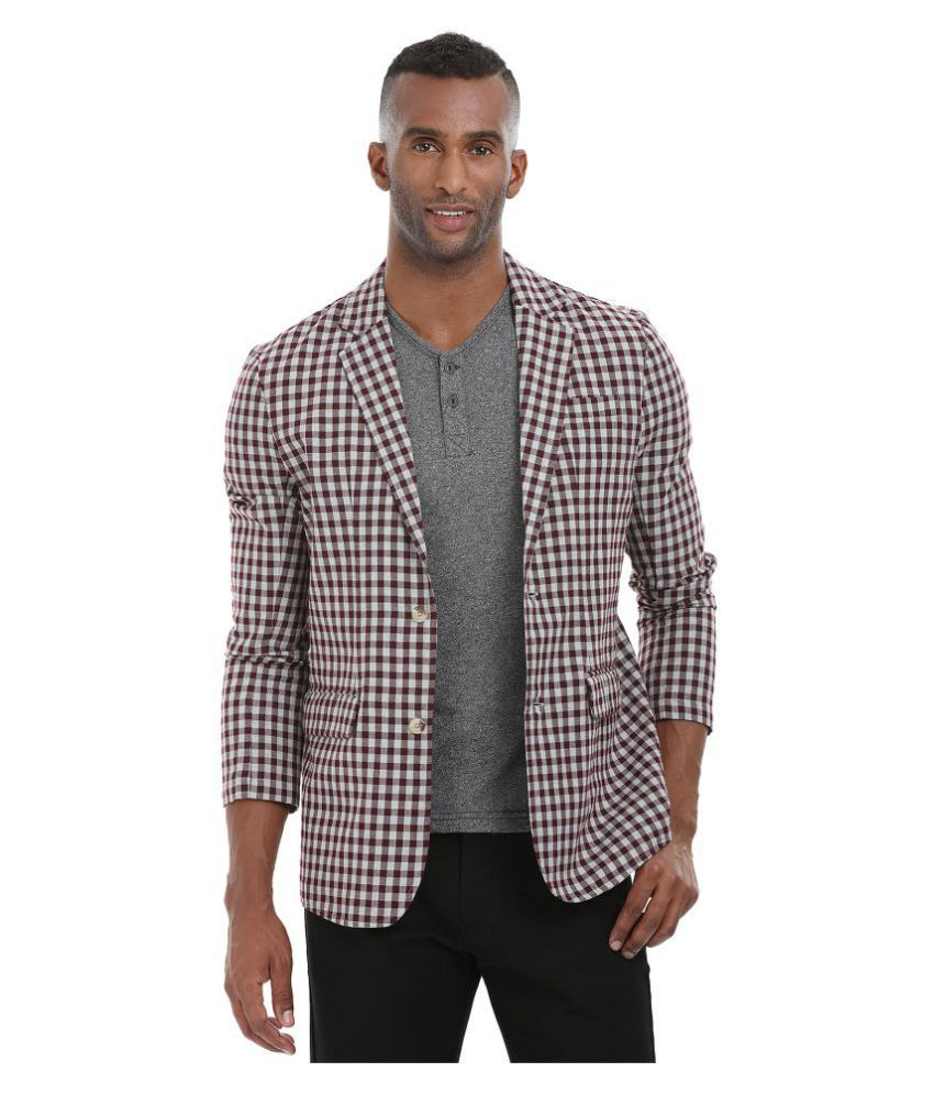 Zobello Multi Checks Casual Blazers