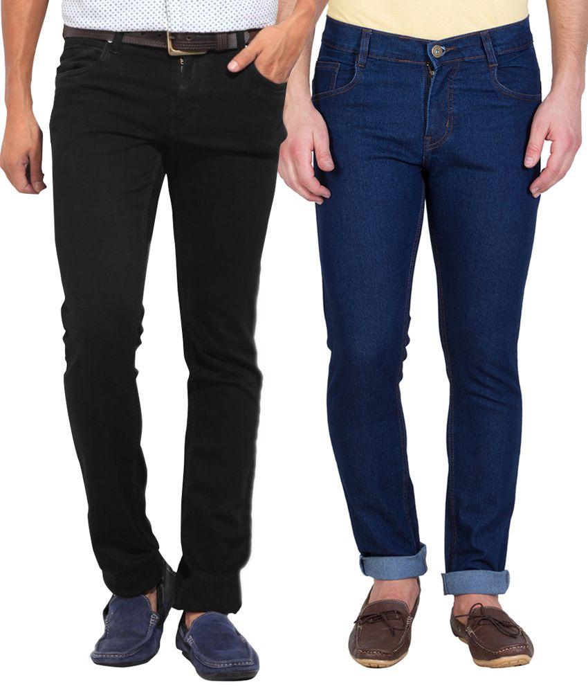 Stylox Multi Slim Jeans - Pack of 2