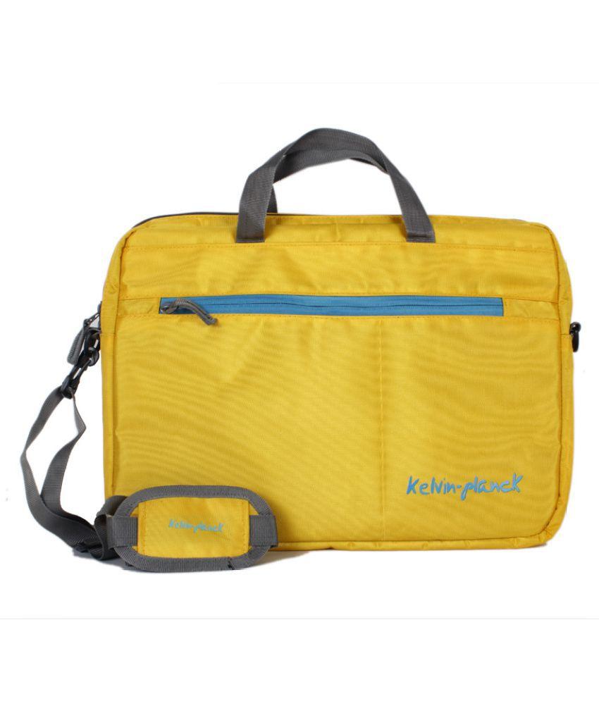 Kelvin planck Yellow Laptop Sleeves