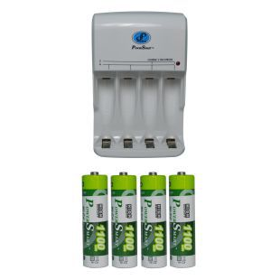 Power Smart Charging Unit PS345 Combo With 1100 mAhx4 AA Cells