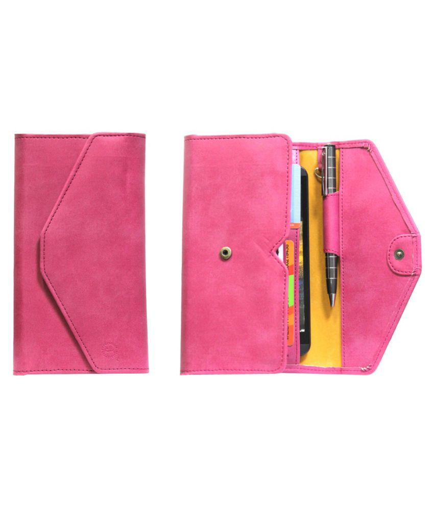 iBall Andi 4.5 Ripple Holster Cover by Jojo - Pink