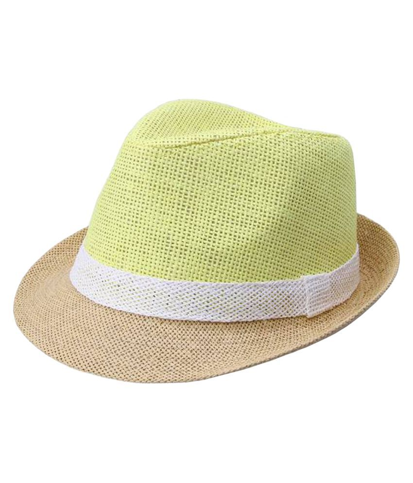 Modo Vivendi Yellow Plain Cotton Hats