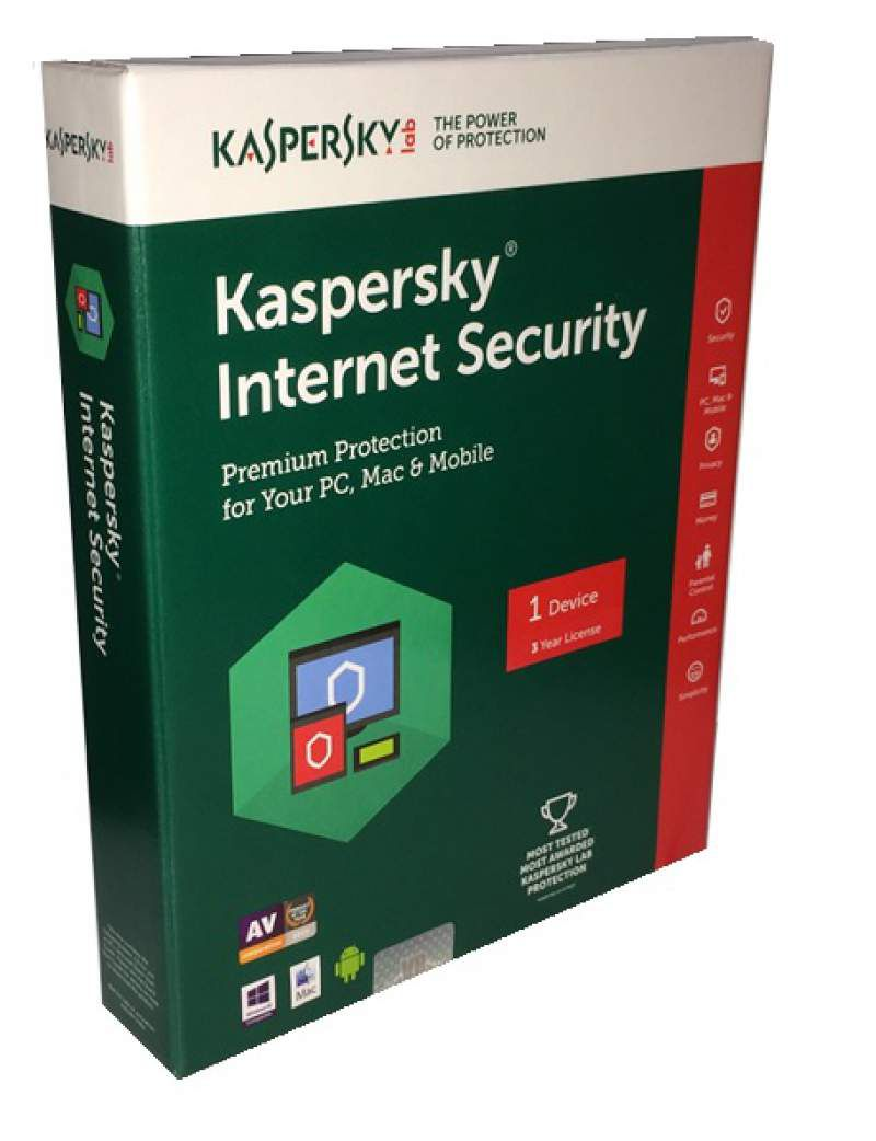 Kaspersky Internet Security Latest Version ( 1 PC/ 3 Year) CD