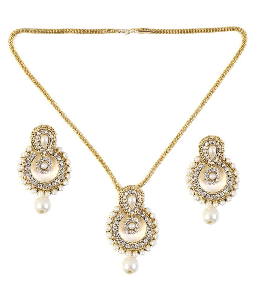 Saraa White Necklace Set