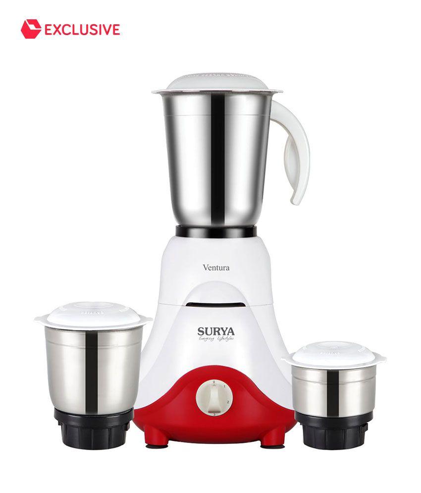 Surya Ventura 500W Mixer Grinder (3 Jars)