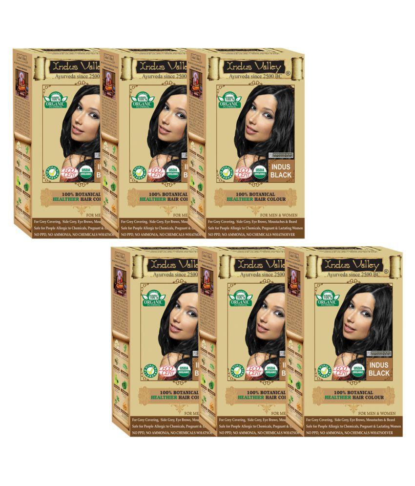 Indus Valley Hair Fibers Indus Black 45 g Pack of 6