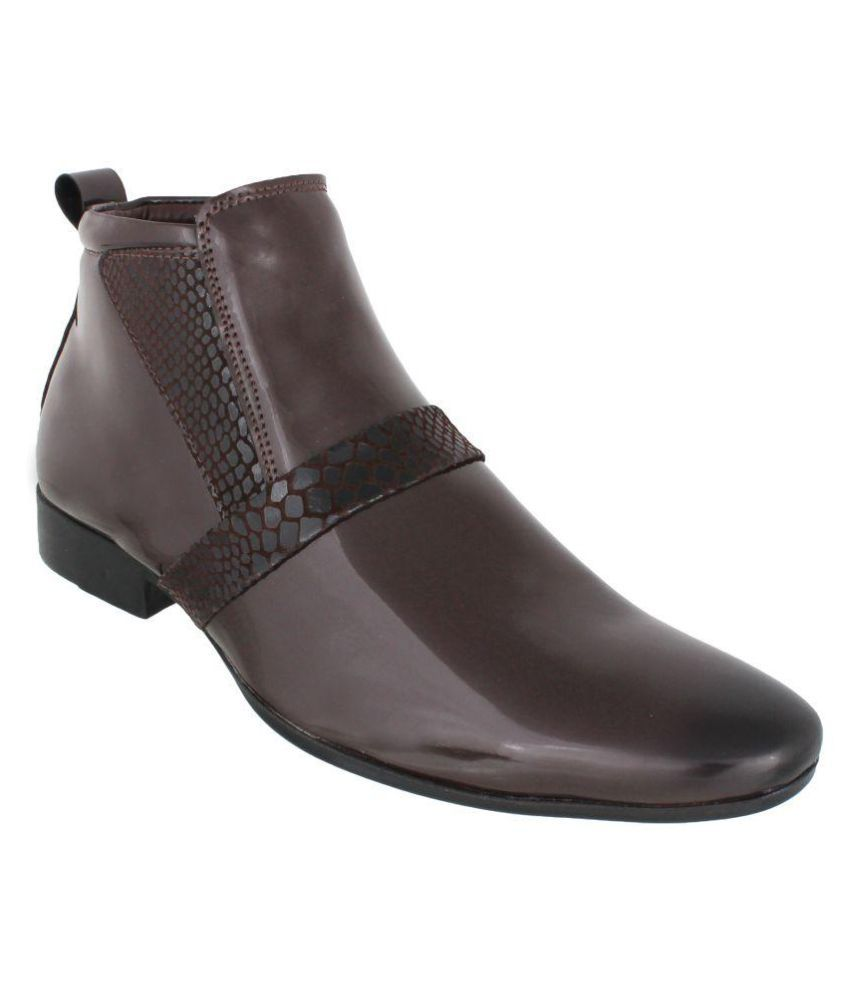 Peter John Leather's Brown Party Boot