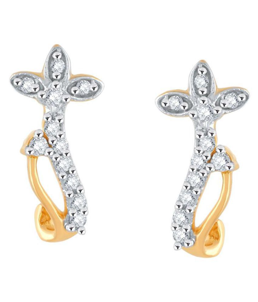 Asmi 18k BIS Hallmarked Yellow Gold Diamond Studs