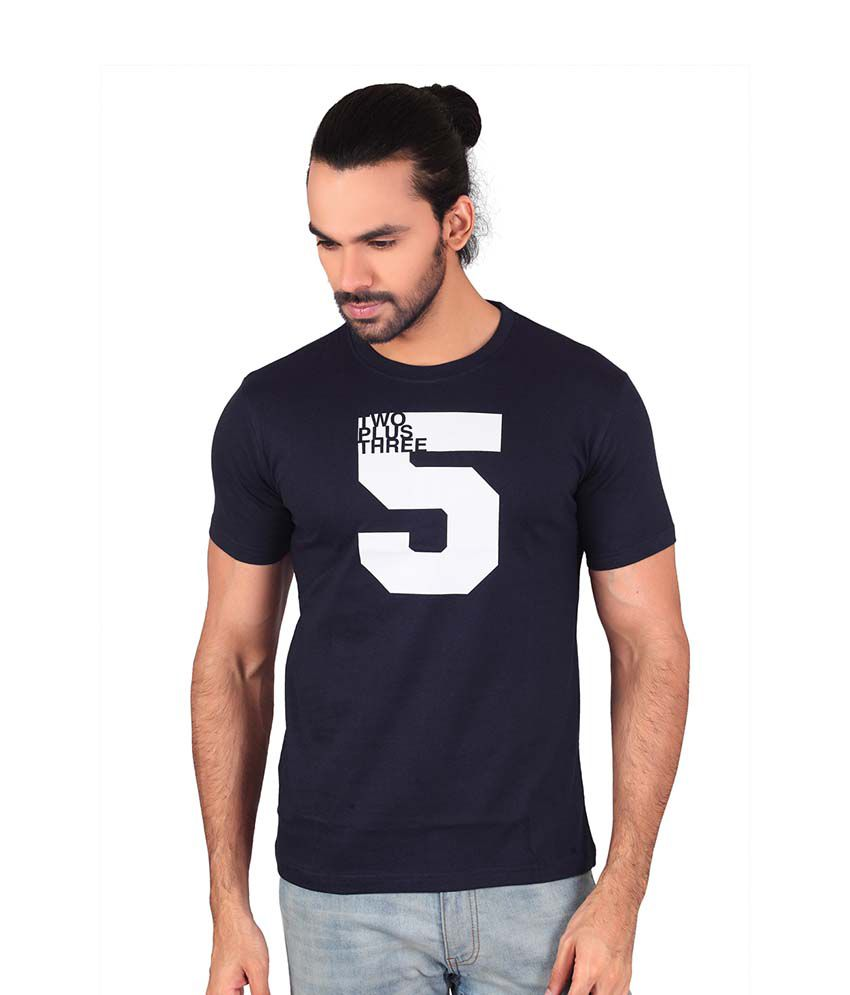 Shaildha Blue Round T-Shirt