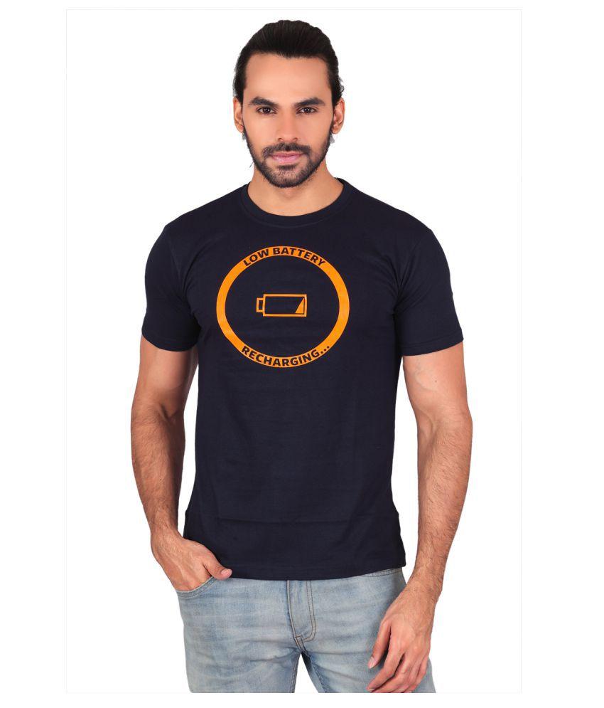 Shaildha Navy Round T-Shirt