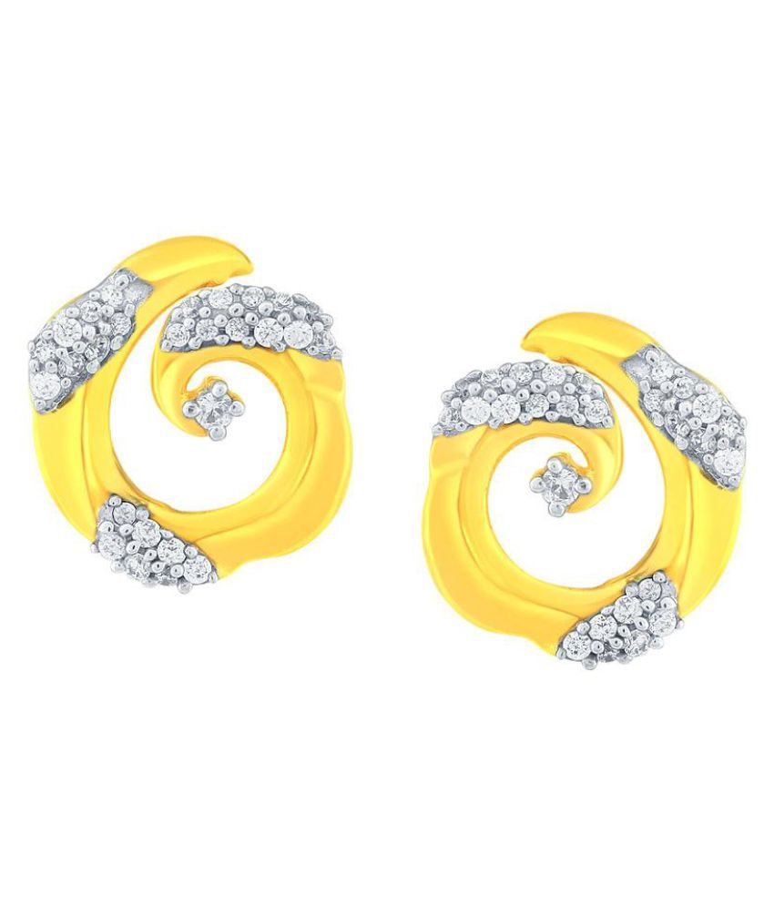 Gili 18k BIS Hallmarked Yellow Gold Diamond Studs