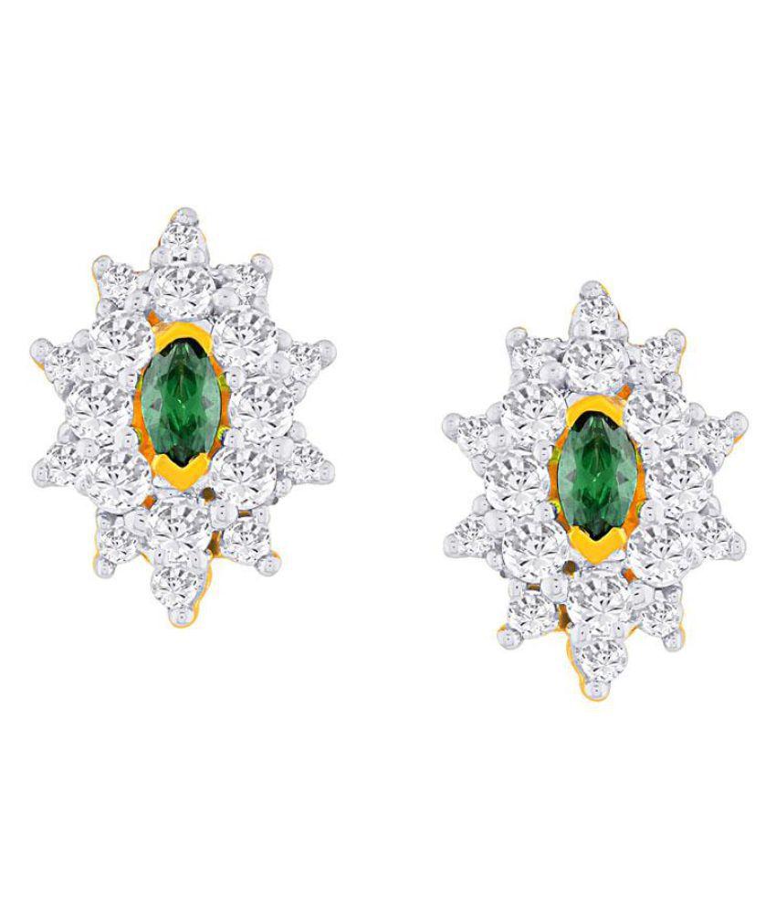 Parineeta 18k BIS Hallmarked Yellow Gold Diamond Studs