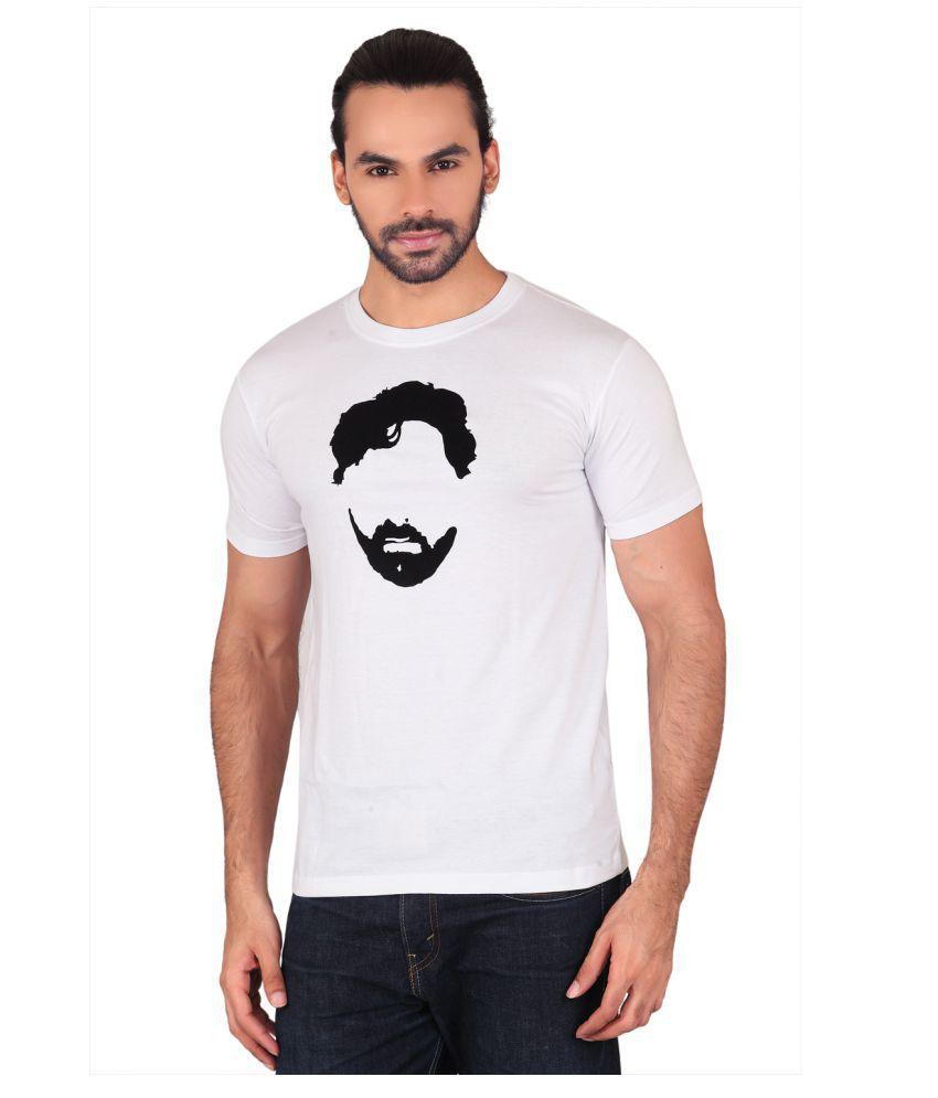 Shaildha White Round T-Shirt