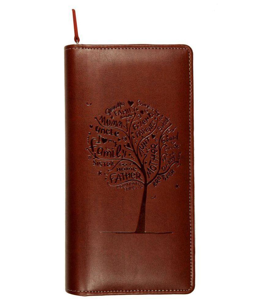 Sukeshcraft Tree P.U. Brown Passport Holder