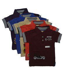 Multicolor boys t-shirts (5 pieces)