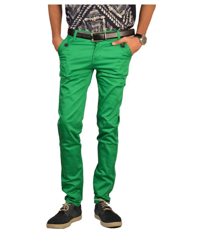Glam Quotient Blue Slim Solid Jeans
