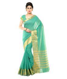 Varkala Silk Sarees Green Chanderi Saree