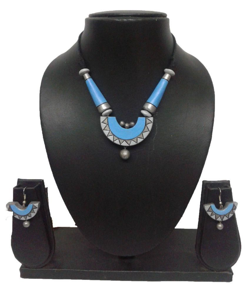 Buddha Crafts Terracotta Necklace Set