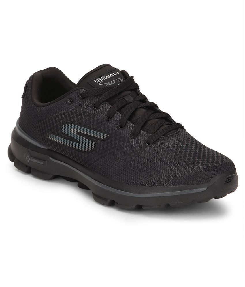 50aa1309c72d Skechers Go Walk 3 - Solar Black Running Shoes - Buy Skechers Go Walk 3 -  Solar Black Running Shoes Online at Best Prices in India on Snapdeal