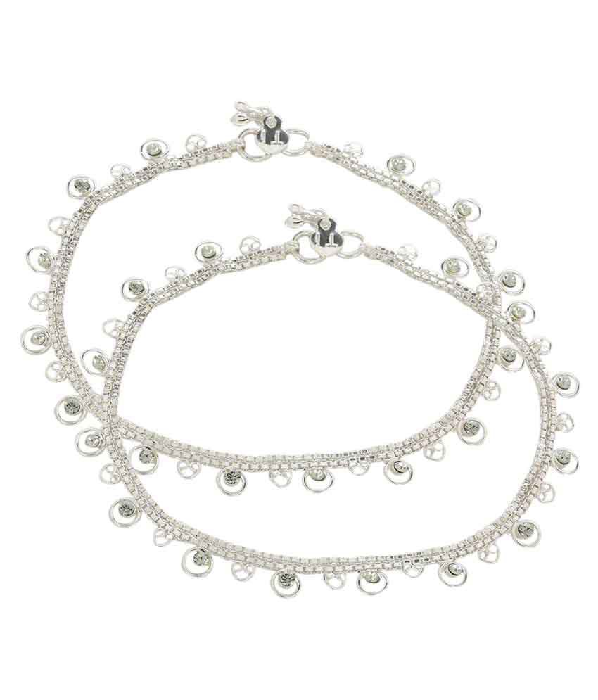 Prita silver plated Anklet