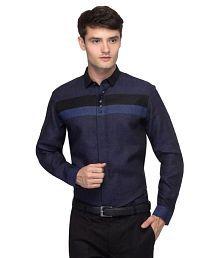 Toxic River Navy Partywear Slim Fit Shirt