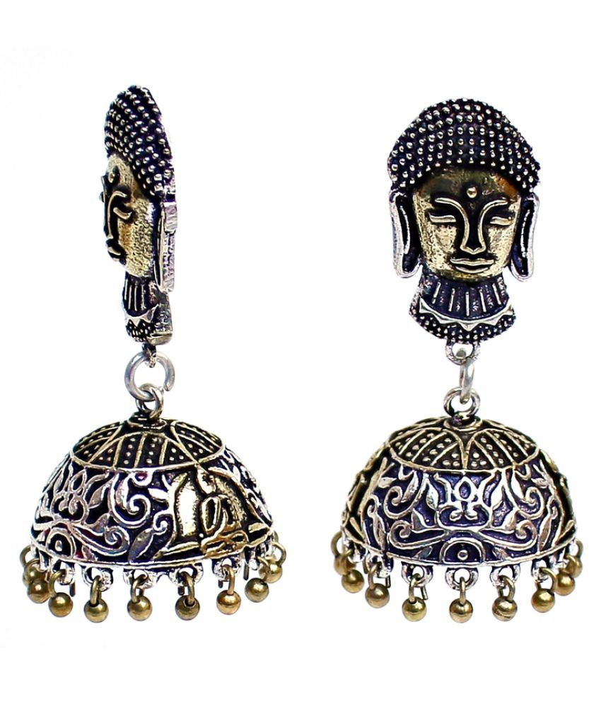 Lucky Jewellery Silver Alloy Jhumki
