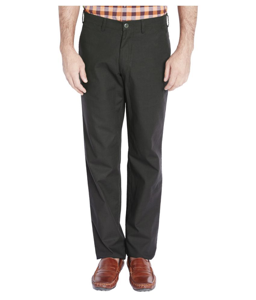 Colorplus Black Regular Pleated Trouser