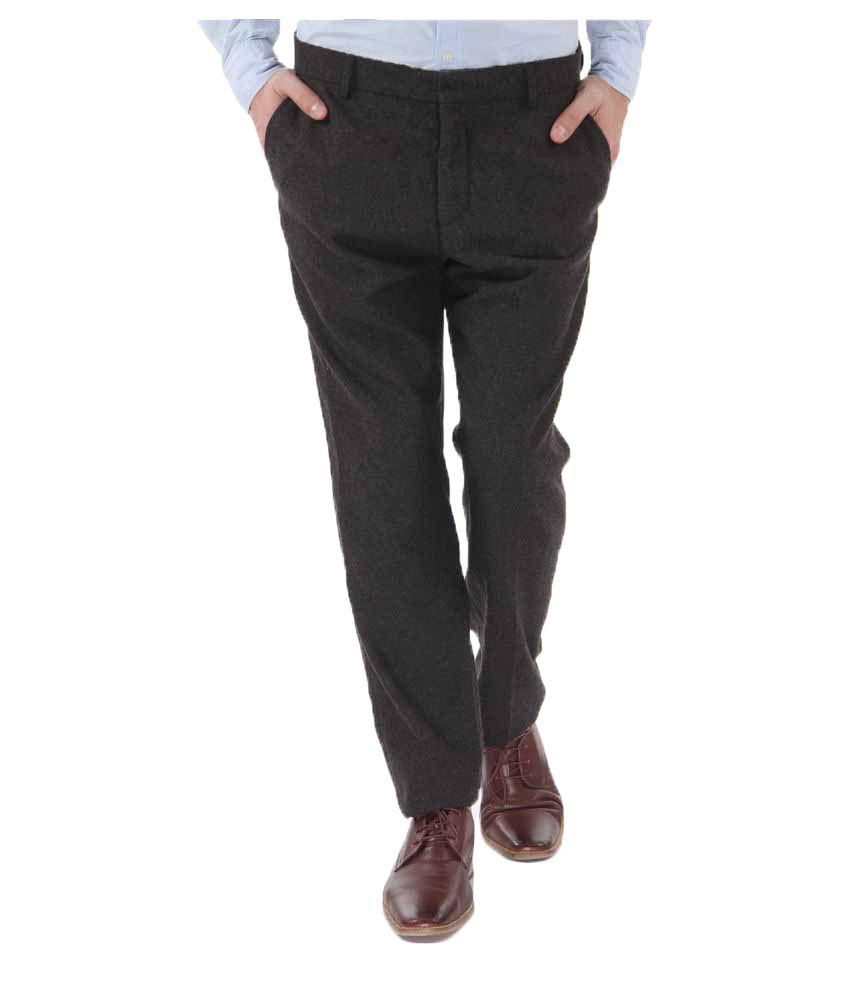 Selected Brown Slim Flat Trouser